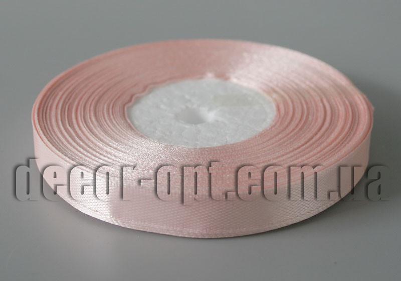 Лента атласная оттенок персикового 0,9 см 36ярд арт.153