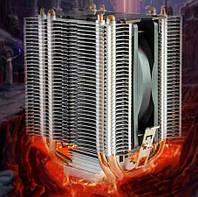 Мощная система охлаждения процессоров INTEL и AMD, на 4 тепловых трубки CAH-409