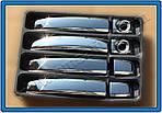 Opel Vivaro 2015↗ гг. Накладки на ручки (4 шт) OmsaLine - Итальянская нержавейка