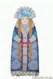Набор для вышивки бисером Чехол на бутылку Зимушка