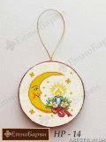 Ткань с рисунком для вышивки бисером Новогоднее украшение Рождественский месяц