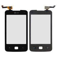 Сенсорный экран для мобильного телефона LG E510 Optimus Hub, черный