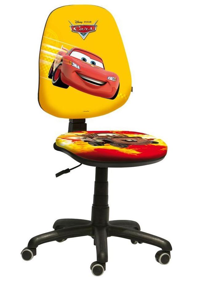 Кресло Поло 50/AMF Дизайн Дисней Тачки Молния и Мэтр крестовина с обрезиненными роликами.