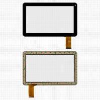"""Сенсорный экран для планшетов China-Tablet PC 10,1""""; Assistant AP-110; GoClever Terra101; Jeka JK100 v2, 10.1"""", 50 pin, емкостный, черный, (257*159"""