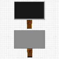 "Дисплей для планшета China-Tablet PC 7"", 7"", (800*480), (164*97 мм), шлейф 40 мм, 50 pin, #MFPC070002/BF60907001RXD"