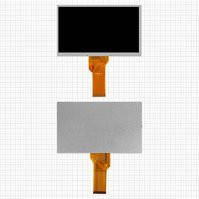 "Дисплей для планшета China-Tablet PC 7"", 7"", (800*480), (165*100 мм), шлейф 80 мм, 50 pin, #20000600-32/AT070TN94/AT070TN92"