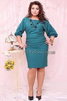 Платье женское трикотаж масло размеры 48 50