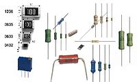Подбор, маркировка резисторов (выводных и SMD)