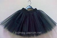 Пышная юбка из фатина для девочки черная