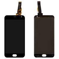 Дисплей для мобильных телефонов Meizu M2, M2 Mini, черный, с сенсорным экраном, большая микросхема, (тип 1), original (PRC), 6*6 mm