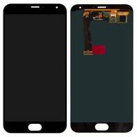 Дисплей для мобильного телефона Meizu MX5, черный, с сенсорным экраном