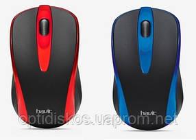 Беспроводная оптическая мышь HAVIT  HV-MS910GT Wireless USB, black/blue, black/red Синий, фото 2