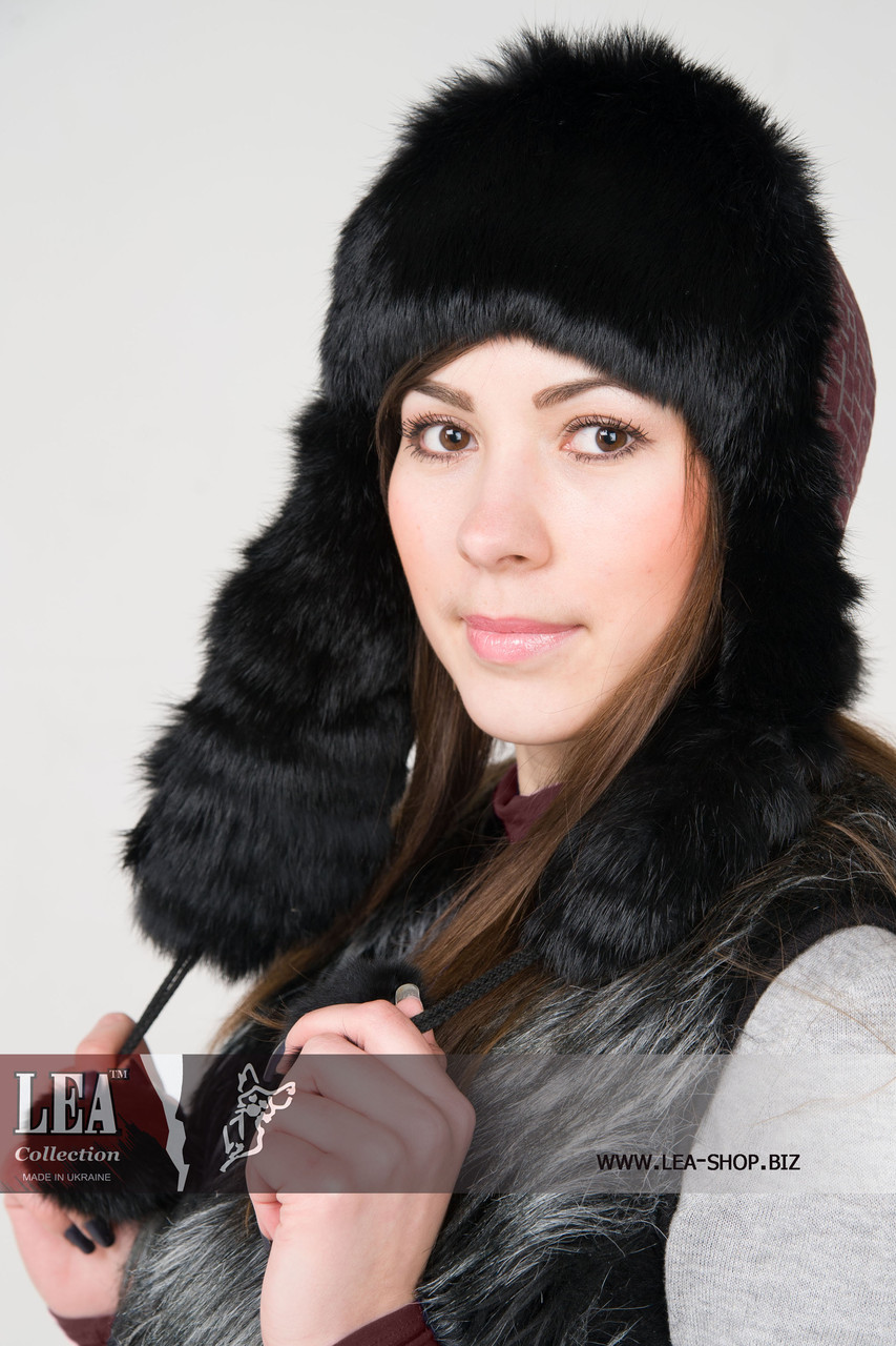 Меховая женская шапка(кроль первый сорт)