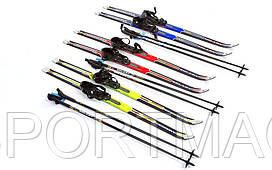 Лыжи беговые в комплекте с палками ZELART 100 см (не регулируемые)