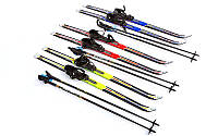 Лыжи беговые в комплекте с палками ZELART 110 см (не регулируемые)