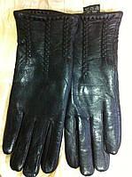 Женские кожаные  перчатки цвет черный