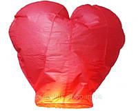 Небесный фонарик Сердце (красный)