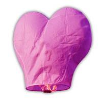 Небесный фонарик Сердце (розовый)