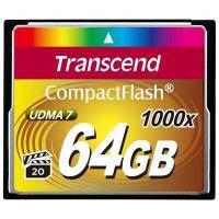 Флеш карта Transcend 64Gb Compact Flash 1000x (TS64GCF1000)