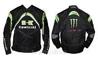 Мотокуртка KAWASAKI KW-012-BK (PL, нейлон, PVC, р-р L,XL,2XL,3XL, цвет черный)