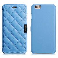 Чехол iCarer для iPhone 6/6S Microfiber Check Blue (side-open) 3444