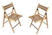 Удобная и недорогая мебель из дерева бук. Раскладной стул.