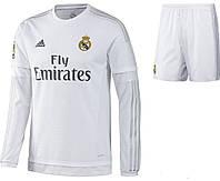 Футбольная форма с длинным рукавом  Adidas FC Real Madrid 2015-16
