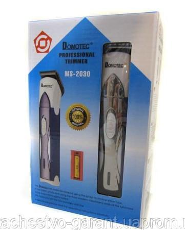 Беспроводная машинка для стрижки бороды и волос триммер Domotec MS-2030