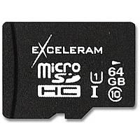 Флеш карта eXceleram 64Gb microSDXC class 10 UHS1 (MSD6410)