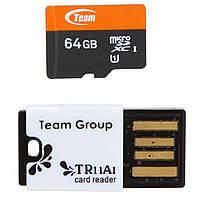 Флеш карта Team 64GB microSD Class 10 UHS-I (TUSDX64GUHS29)