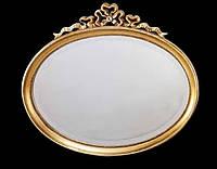 Классическое зеркало в золотой раме овальное Arte Arredo Италия