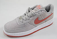 Кроссовки женские Nike Air Force замшевые, серые (найк аир форсы) (р.37,38,39,40)