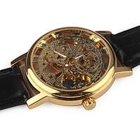 Часы Winner Skeleton Золотистый Скелетон. Механика, фото 1