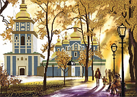 Схема для вышивки бисером Собор в парке КМР 3073