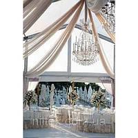 Украшение зала тканью на свадьбу