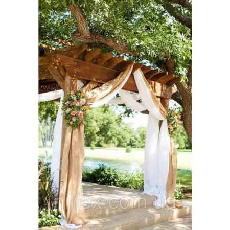Оформление зала тканью на свадьбу
