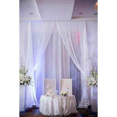 Оформление зала на свадьбу тканью