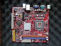 КОМПАКТНАЯ Плата mini-iTX - s775 MSI на DDR2 понимает 2 ЯДРА ПРОЦЫ INTEL Core2DUO до E6700 775 FSB 1066