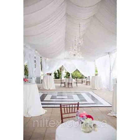 Украшение зала на свадьбу тканью