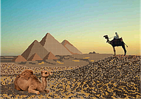 Схема для вышивки бисером Египет КМР 3077