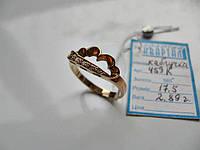 Золотое КОЛЬЦО 2.89 грамма 17.5 размер ЗОЛОТО 585 пробы