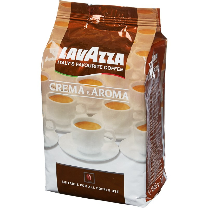 "Кофе ""Lavazza"" Crema e Aroma, 1 кг, зерно"
