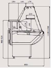 Холодильная витрина Россинка 1,5 ВС, фото 2