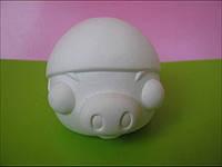Гіпсова фігурка для розмальовки. Гипсовая фигурка для раскраски. Свинка Angry Pig