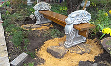 Скамейка, лавочка бетонная «Садовая» , фото 2