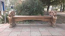 Скамейка, лавочка бетонная «Садовая» , фото 3