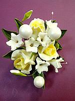 """Авторский букет""""Розы малый желтый """"d155(код 02484)"""