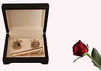 Запонки и зажим для галстуков набор artnab-001
