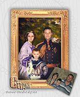 Семейный портрет под масло 40*50 по фотографии, фото 1