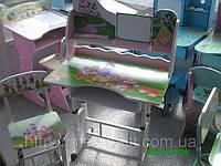 Детская парта трансформер Принцесса B 01 + стул (металические ножки) киев, фото 1